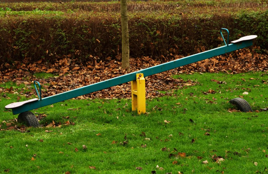 Seesaw in park - balance