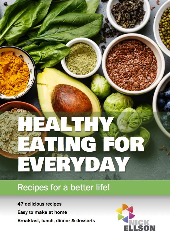 Healthy eating recipe book cover
