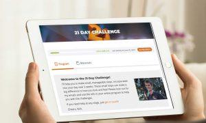 iPad showing 21 day program