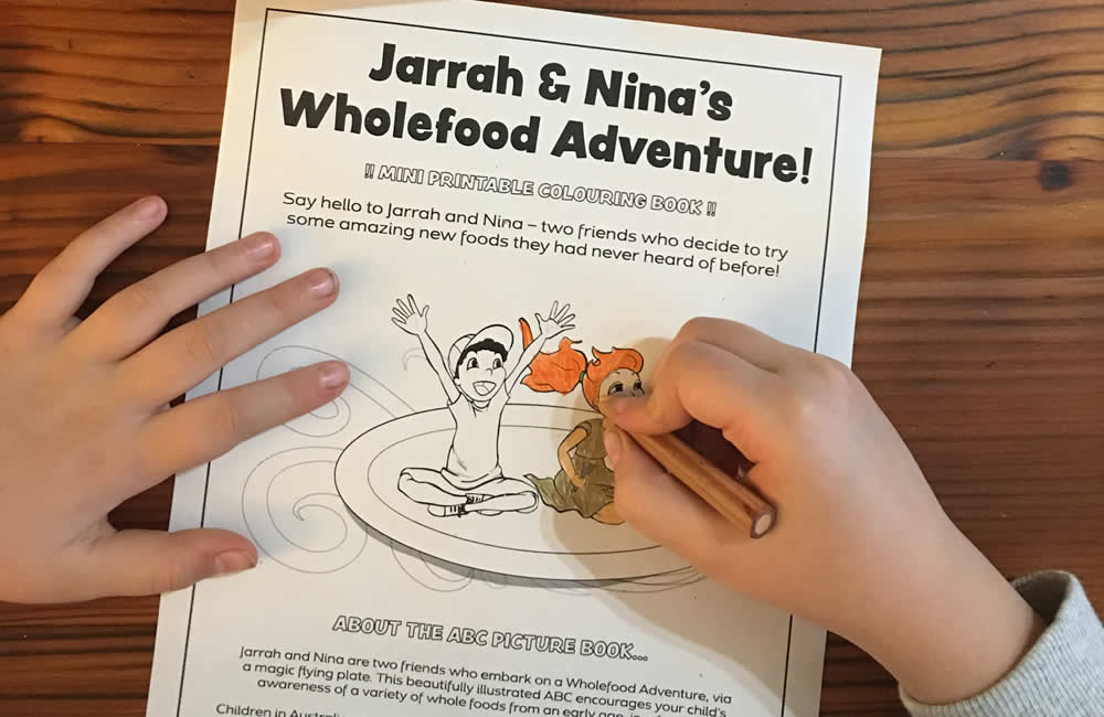 ABC Wholefood Adventure colouring book