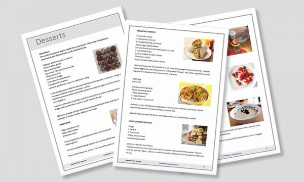 sample pages from the healthy recipe book