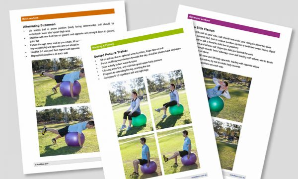 Swiss ball exercises for core strength - pages